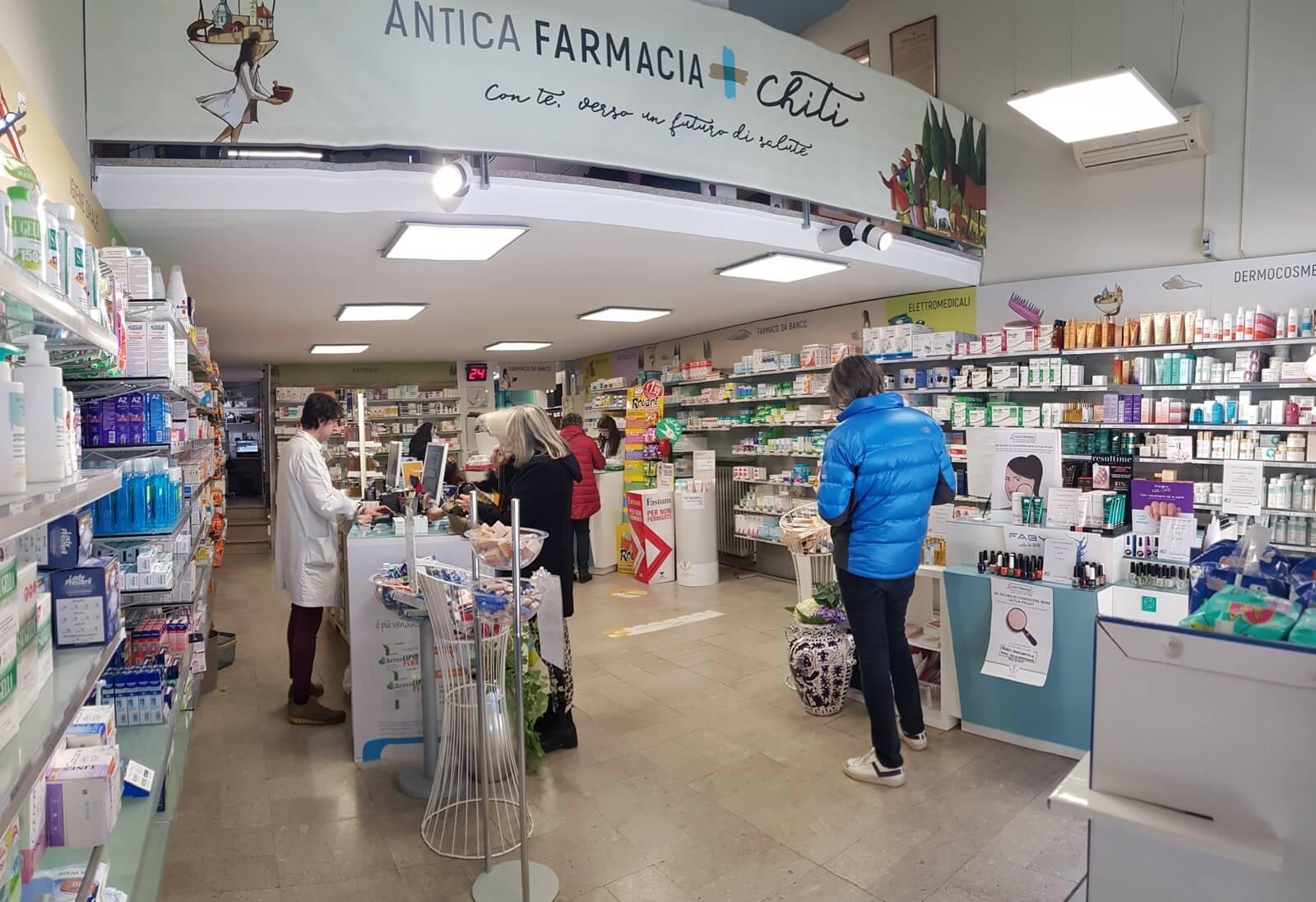 Farmaci da banco OTC SOP. Antica Farmacia Chiti Pistoia, specializzati in prodotti per il benessere della persona.