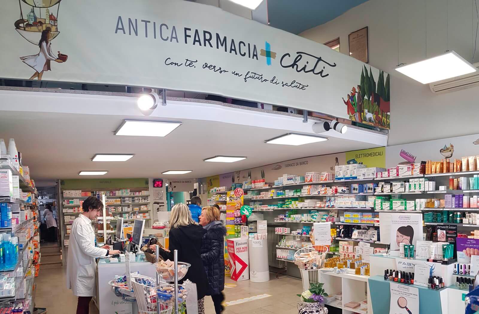 Antica Farmacia Chiti Pistoia. Prodotti selezionati e preparazioni naturali per Fitoterapia, Nutraceutica, Dermocosmesi, Veterinaria. Siamo specializzati in prodotti per la bellezza ed il benessere della persona.