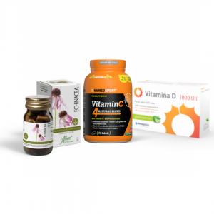 vitamina c, d, echinacea