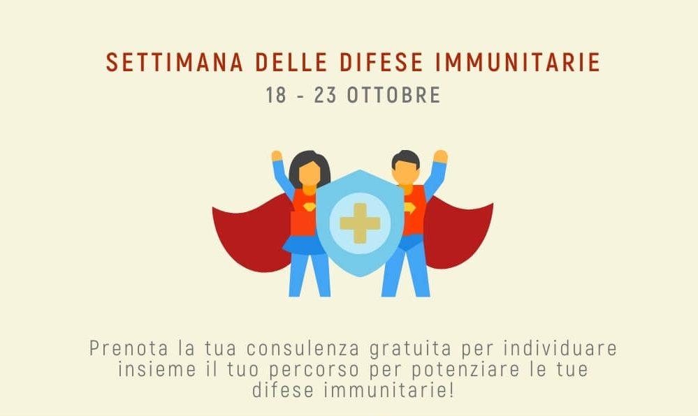 Settimana delle difese immunitarie – ottobre 2021